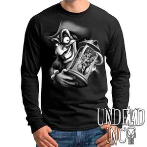 Tinkerbell and Captain Hook Black & Grey - Mens Long Sleeve Tee