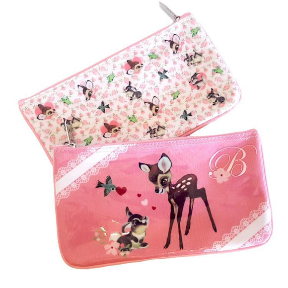 Bambi & Thumper Vintage Style Makeup Cosmetics Bag - Undead Inc Cosmetics Bag,