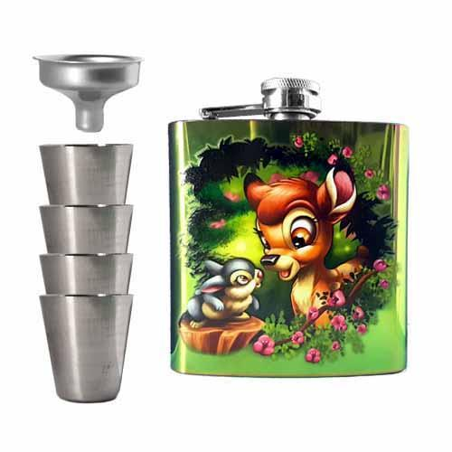 Bambi & Thumper Undead Inc Hip Flask Set - Undead Inc Hip Flask,