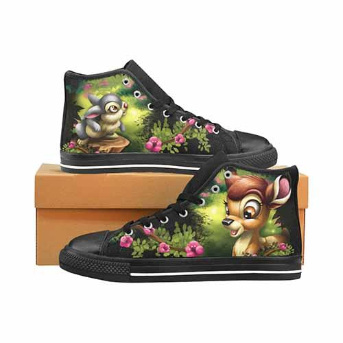 Bambi & Thumper LADIES Classic High Top Canvas Shoes - Undead Inc Women's High Top Canvas,