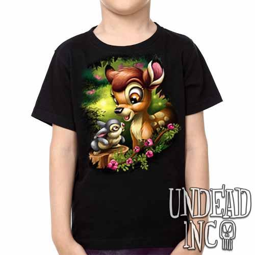 Bambi & Thumper -  Kids Unisex Girls and Boys T shirt Clothing - Undead Inc Kids T-shirts,