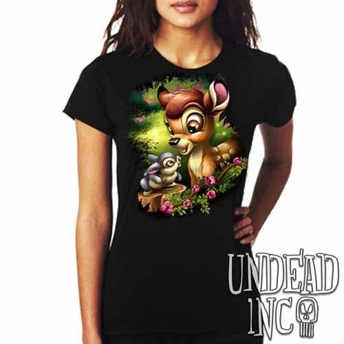 Bambi & Thumper - Ladies T Shirt - Undead Inc Ladies T-shirts,