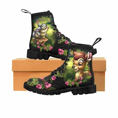 Bambi & Thumper Wild Flower Variant LADIES Martin Boots