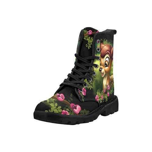 Bambi & Thumper Wild Flower Variant LADIES Martin Boots - Undead Inc Womens Boots,