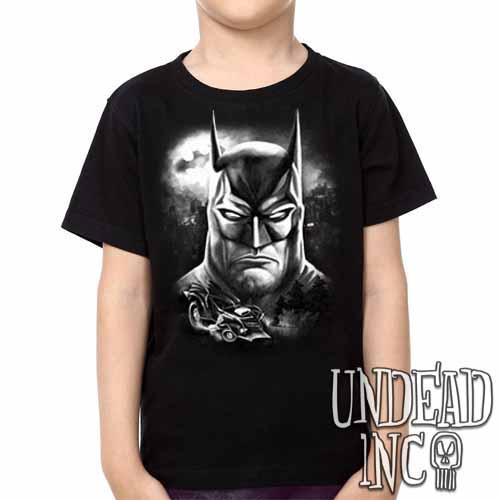 Batman - Kids Unisex Girls and Boys T shirt Clothing Black Grey - Undead Inc Kids T-shirts,