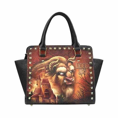 Beauty & the Beast Castle Premium PU Leather Stud Detail Shoulder / Hand Bag - Undead Inc Shoulder Handbags,
