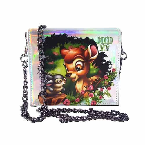 Bambi & Thumper Enchanted Undead Inc Shoulder Bag With Removable Chain - Undead Inc Shoulder Handbags,