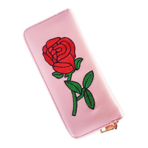 Beauty & The Beast Enchanted Rose PINK Long Line Long Line Wallet Purse - Undead Inc Wallet,