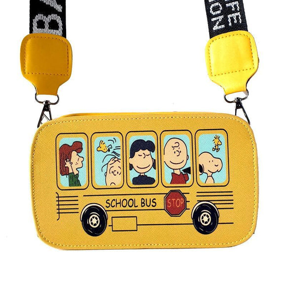 Peanuts Snoopy School Bus Shoulder / Messenger Bag
