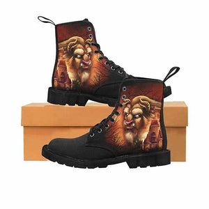 Beauty & The Beast Castle LADIES Martin Boots - Undead Inc Womens Boots,