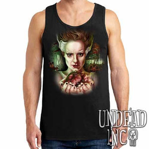 Bride Of Frankenstein Heart - Mens Tank Singlet - Undead Inc Mens Tanks,