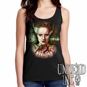 Bride Of Frankenstein Heart - Ladies Singlet Tank - Undead Inc Ladies Tank Tops,