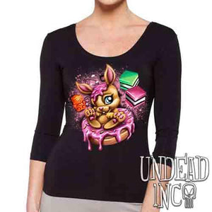 Donut Bunny - Ladies 3/4 Long Sleeve Tee