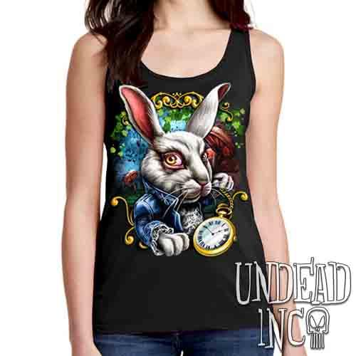 Alice In Wonderland White Rabbit - Ladies Singlet Tank