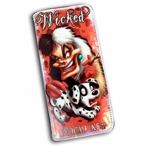 Villains Cruella Undead Inc Hologram Long Line Wallet Purse