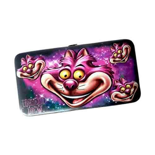 Cheshire Cat Faces Undead Inc Hinge Long Line Wallet