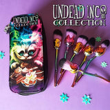 Undead Inc Collection Alice In Wonderland Cheshire Cat Tea Party - Makeup Brush & Case Set
