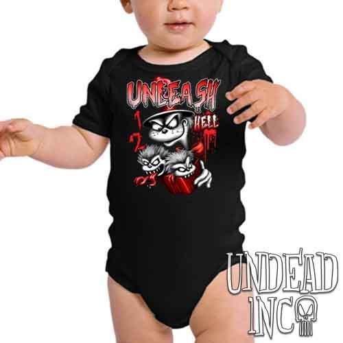 Cat In The Hat Unleash Hell Black & Grey - Infant Onesie Romper