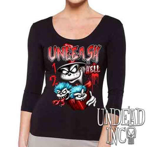 Cat In The Hat Unleash Hell - Ladies 3/4 Long Sleeve Tee