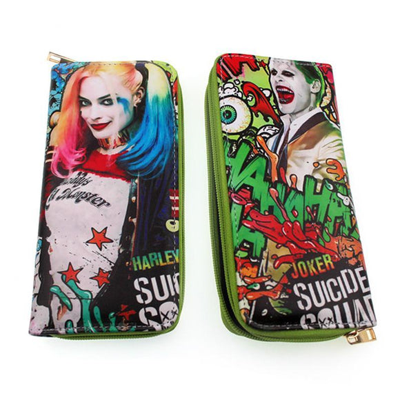Suicide Squad Harley Quinn & Joker Graffiti Long Line Wallet Purse