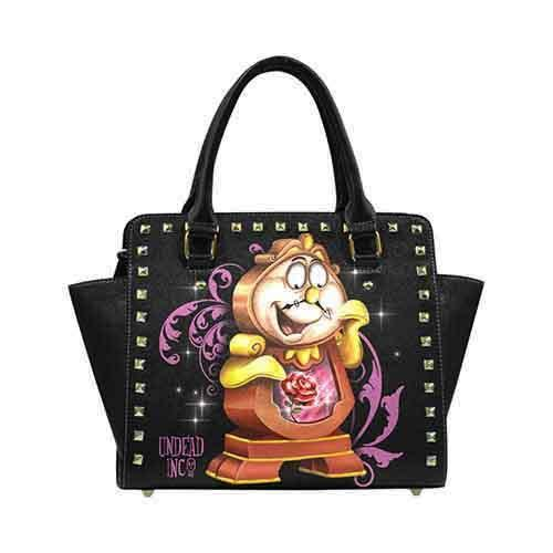Enchanted Cogsworth Premium PU Leather Stud Detail Shoulder / Hand Bag - Undead Inc Shoulder Handbags,