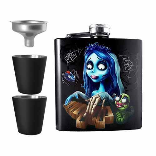 Corpse Bride Undead Inc Hip Flask Set