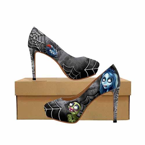 Corpse Bride Platform High Heels - Undead Inc High Heels,