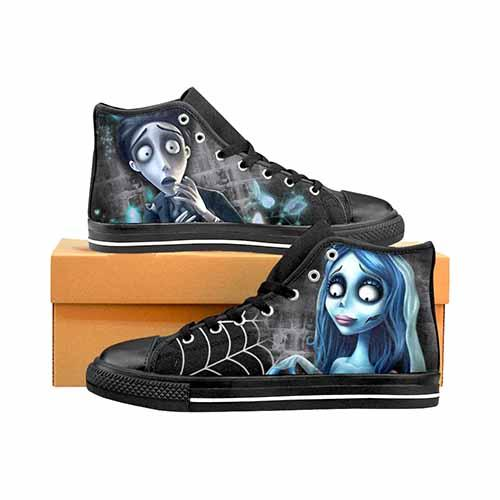 Corpse Bride Men's Classic High Top Canvas Shoes