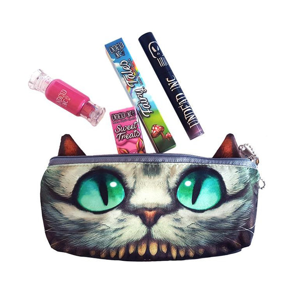 Alice In Wonderland Cheshire Cat Cosmetics Bag Matte Liquid Lipstick Set - Undead Inc Matte Liquid Lipstick,