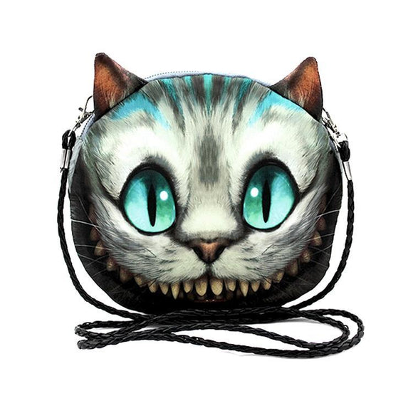 Alice In Wonderland Cheshire Cat Small Cross Body Purse - Undead Inc Shoulder Handbags,