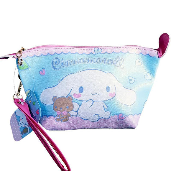 Sanrio Cinnamoroll PU Leather Makeup Cosmetics Bag