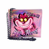 Cheshire Cat We're All Mad Here Undead Inc Shoulder Bag With Removable Chain - Undead Inc Shoulder Handbags,