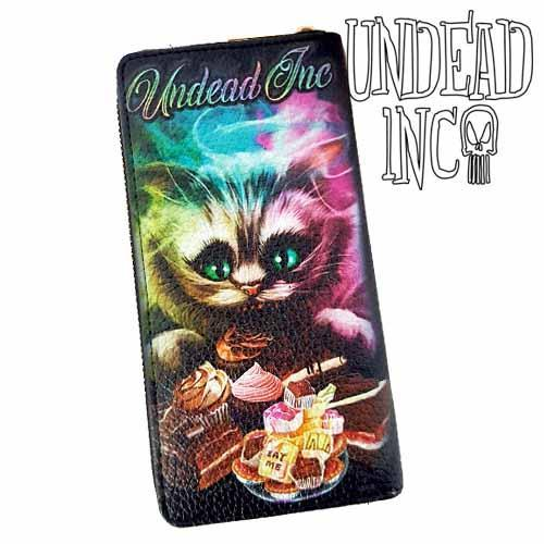Alice In Wonderland Cheshire Cat Undead Inc Premium Pu Leather Long Line Wallet