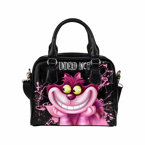 Undead Inc Alice in Wonderland Classic Cheshire Cat Shoulder / Hand Bag