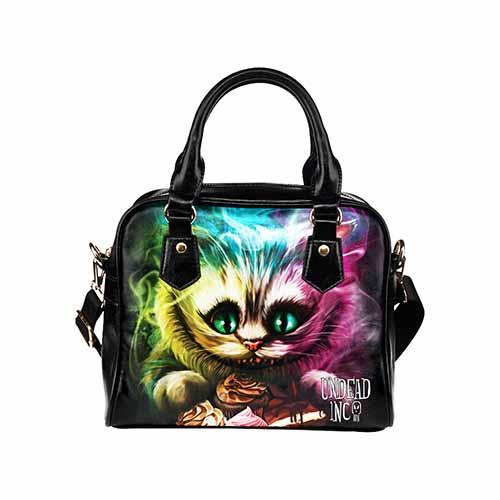 Undead Inc Alice in Wonderland Cheshire Cat Shoulder / Hand Bag