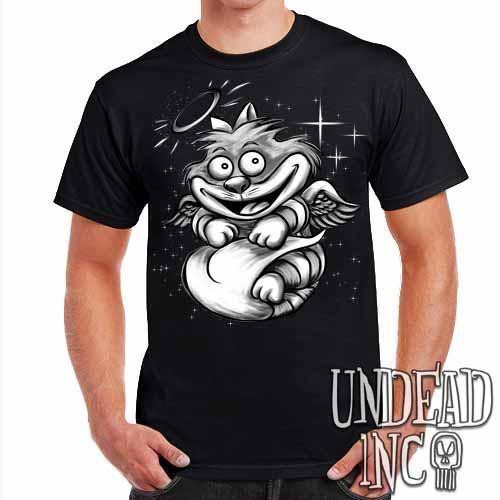 Alice In Wonderland Cheshire Angel Cat - Mens T Shirt - Undead Inc Mens T-shirts,