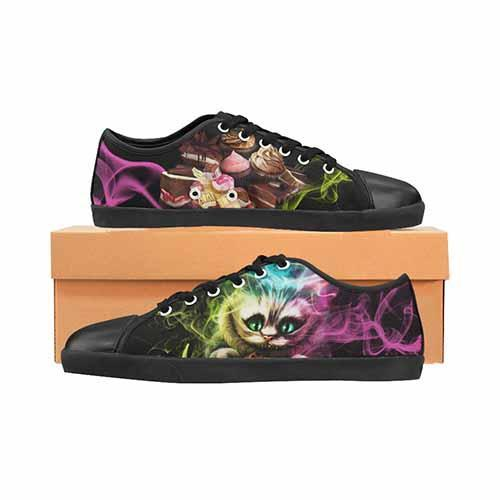 Alice In Wonderland Cheshire Cat Men's Canvas Shoes - Undead Inc Men's Canvas Shoes,
