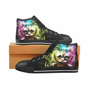 Alice In Wonderland Cheshire Cat Women's Classic High Top Canvas Shoes - Undead Inc Women's High Top Canvas,