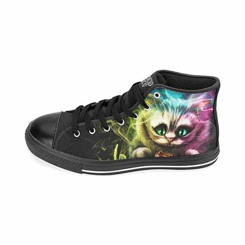Alice In Wonderland Cheshire Cat Men's Classic High Top Canvas Shoes - Undead Inc Men's High Top Canvas,