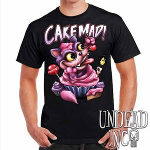 Alice In Wonderland Cheshire Cat Cake Mad - Mens T Shirt - Undead Inc Mens T-shirts,