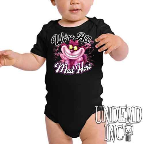 We're All Mad Alice In Wonderland Cheshire Cat - Infant Onesie Romper