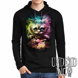 Tim Burton Cheshire Cat - Mens Long Sleeve Hooded Shirt