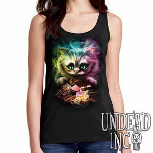 Alice In Wonderland Cheshire Cat  - Ladies Singlet Tank - Undead Inc Ladies Tank Tops,