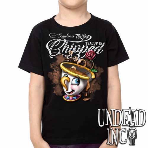 Beauty and the Beast Chip Teacup - Kids Unisex Girls and Boys T shirt Clothing - Undead Inc Kids T-shirts,