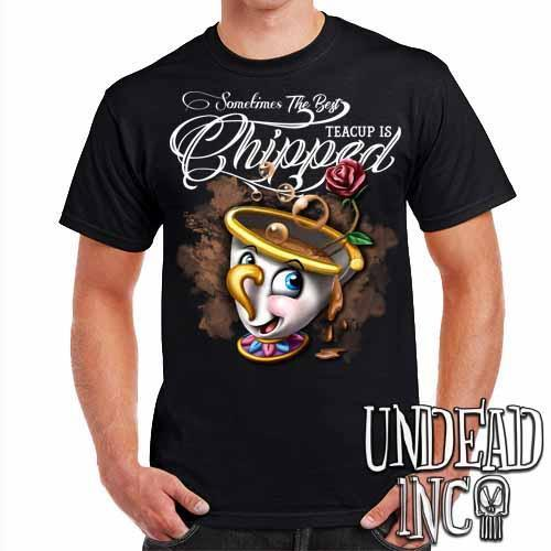 Beauty and the Beast Chip Teacup - Mens T Shirt - Undead Inc Mens T-shirts,
