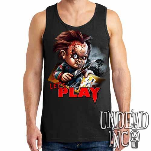 Chucky Let's Play - Mens Tank Singlet - Undead Inc Mens Tanks,