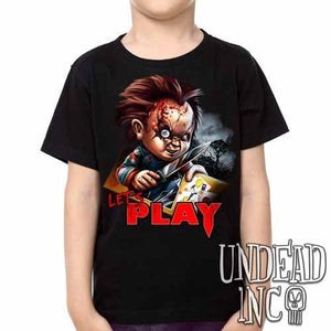 Chucky Let's Play -  Kids Unisex Girls and Boys T shirt Clothing - Undead Inc Kids T-shirts,