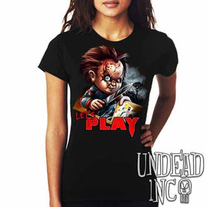 Chucky Let's Play - Ladies T Shirt - Undead Inc Ladies T-shirts,