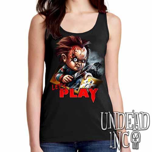 Chucky Let's Play - Ladies Singlet Tank - Undead Inc Ladies Tank Tops,