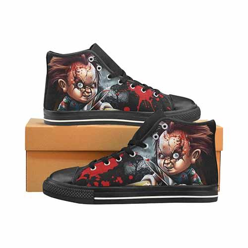 Chucky Horror Men's Classic High Top Canvas Shoes - Undead Inc Men's High Top Canvas,